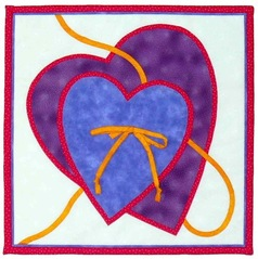 Two Hearts Appliqué Block Quilt Pattern